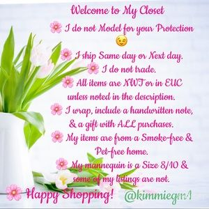 Other - Welcome to my Closet @ kimmiegm1